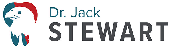 Dr. Jack C Stewart DDS Logo: a tooth with an eagle
